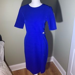 Topshop Cobalt Blue Slit Dress - never worn